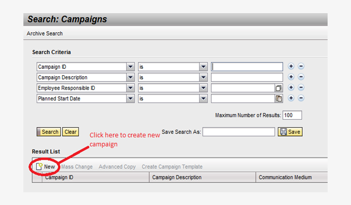 Campaign automation user interface