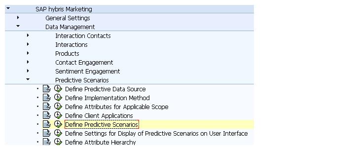 Predictive Scenario Settings