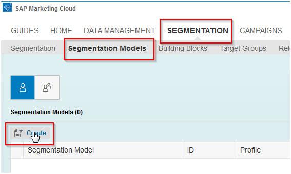 'Create' Segmentation model